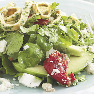 Omelet, Watercress and Feta Salad