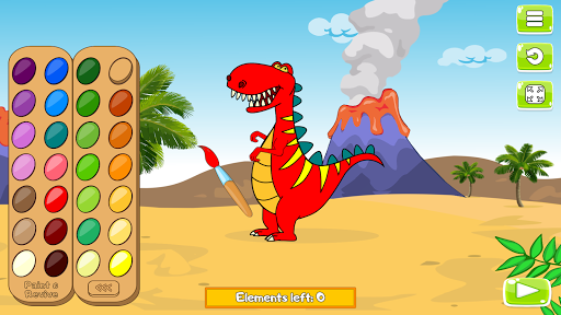 Paint and Go - Coloring of Dinosaurs with Cartoons android2mod screenshots 2