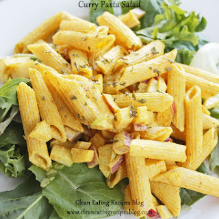 Clean Eating Dinner Recipe – Curry Pasta Salad.