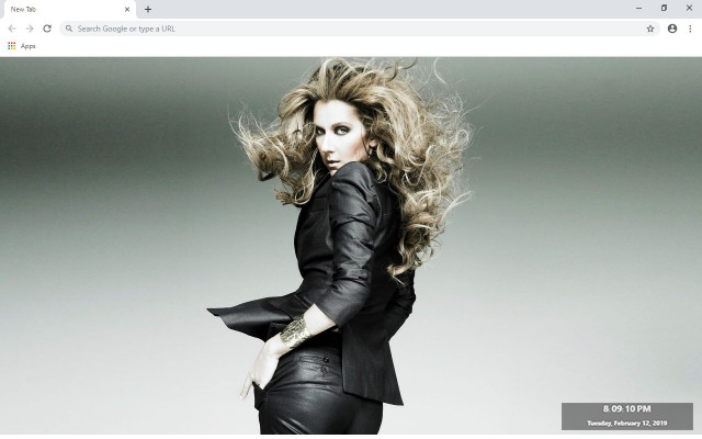 Celine Dion New Tab & Wallpapers Collection