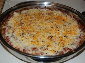 Italian Cheese & Herb Spaghetti Pie