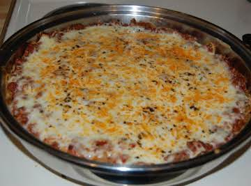 Italian Cheese & Herb Spaghetti Pie