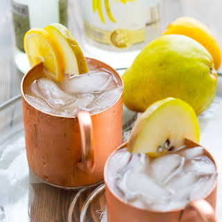 Vanilla Pear Moscow Mules.
