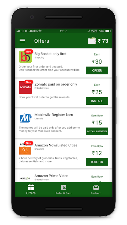 Chiku- Amazing offers and Free recharge – (Android Apps