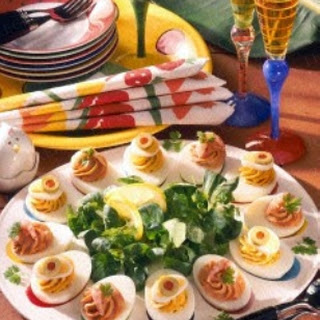 Pikant gefüllte Eier