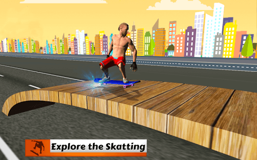 Skateboard Race Free 1.0.1 screenshots 1