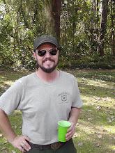 Photo: Mr. Christopher Lydick, master cook of at least 12 pig roasts.  FSU Alumni, Osceola Forest archaeologist.