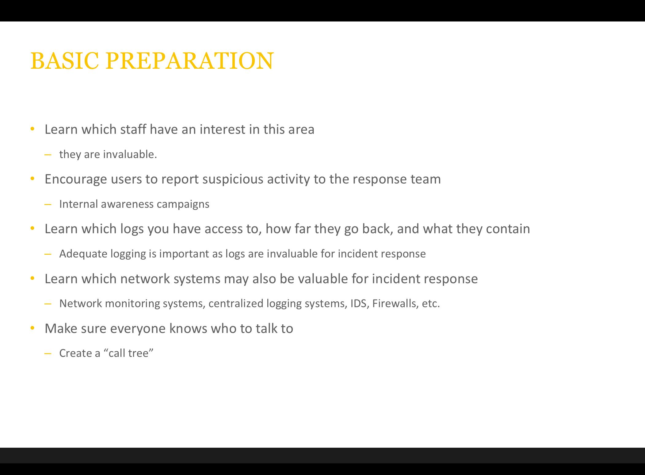 incident response report template