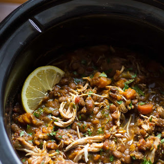 Slow Cooker Ethiopian Chicken & Lentil Stew