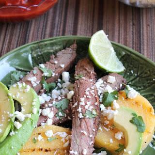 Grilled Polenta with Spicy Steak.