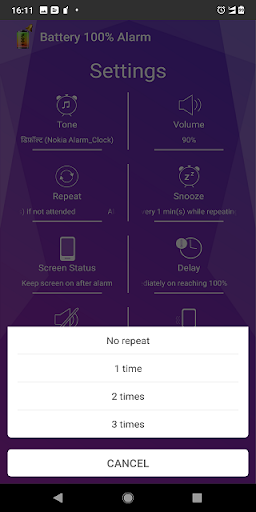Battery 100% Alarm screenshots 6