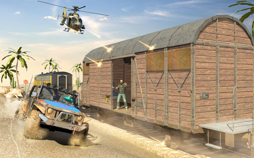 Mission Counter Attack Train Robbery Shooting Game apkpoly screenshots 15