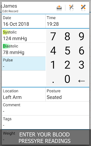 Blood Pressure Log - MyDiary 1.4.6 screenshots 1