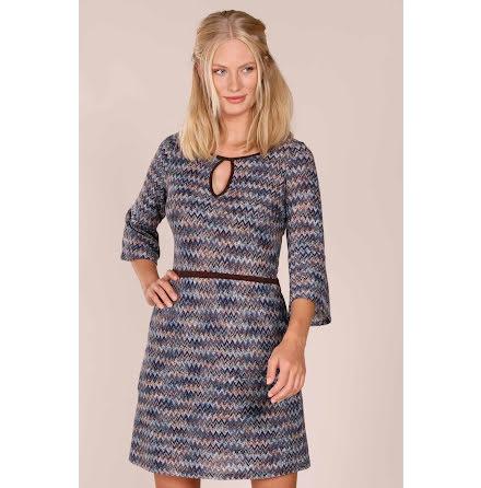 Liboria Short Knit Dress Blue - Pernilla Wahlgren