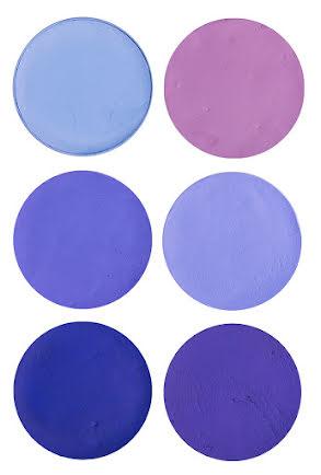 Aquasmink stora, blå/lila