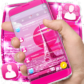 Paris Love SMS Theme