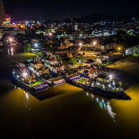 Barge by Irfan Firdaus - Transportation Boats ( travel photography, landscapes, nature, night, travel, low light )