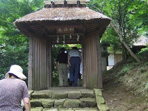 Photo: 階段を登りきり、「幻住庵」門へ辿りつく・・ by FM