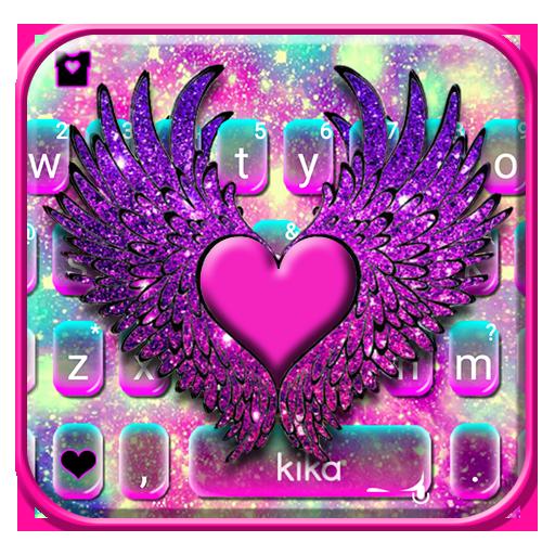 Galaxy Heart Wings Keyboard Theme Icon