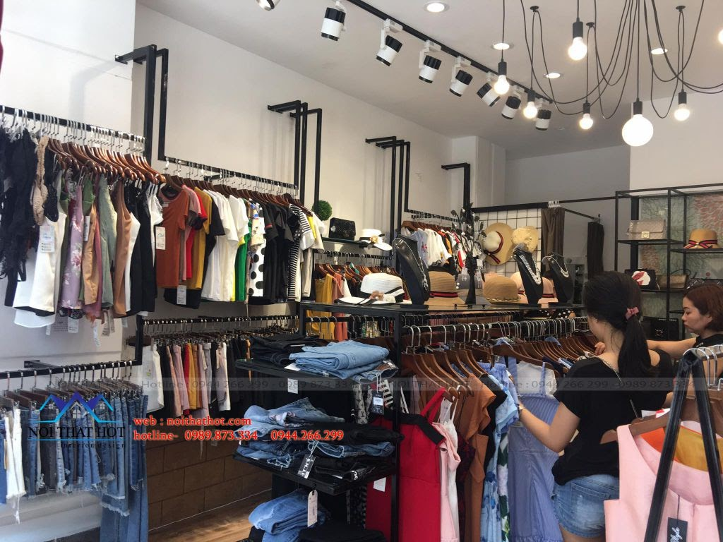 thi công thiết kế nội thất shop thời trang hiện đại