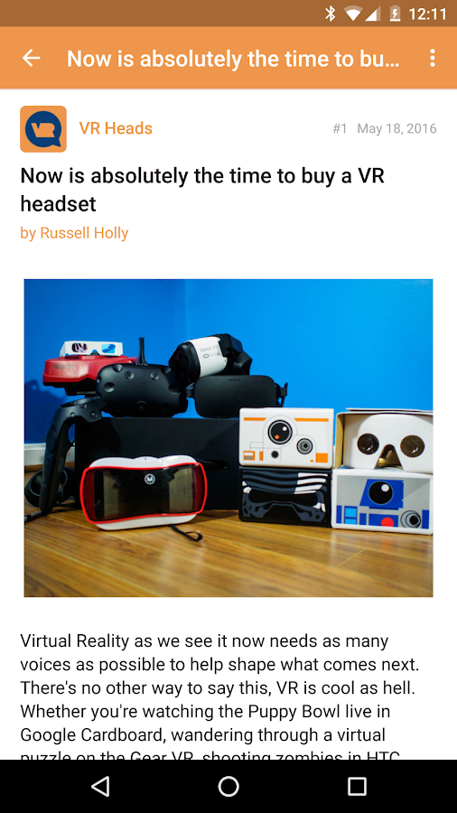 VRHeads Forums- screenshot
