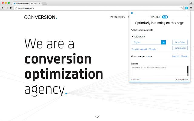 Conversion.com's Optimizely Chrome Extension