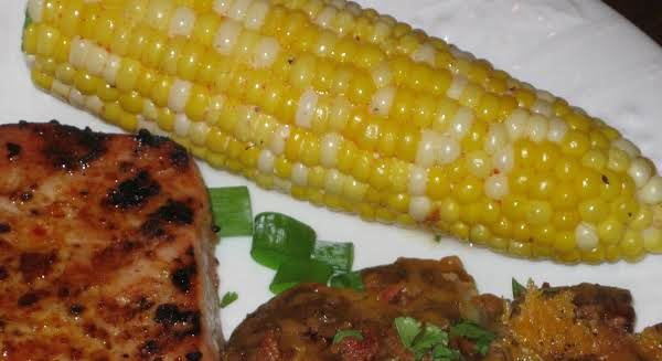 Spicy Grilled Sweet Corn