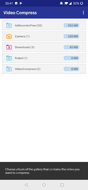 برنامج تقليل حجم الفيديو Video Compress