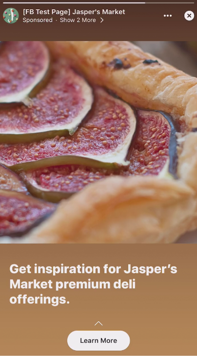 Jaspers marketing test carousel ad