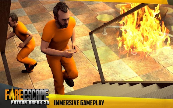 Fire Escape Prison Break 3D apk screenshot