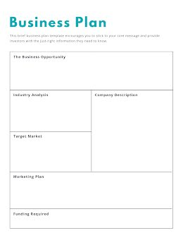 Outlined Document - Business Plan item