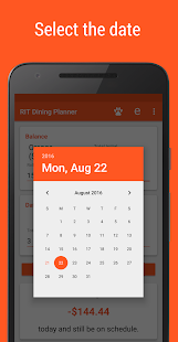 RIT Dining Planner- screenshot thumbnail