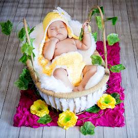 Sleep with Flower by Dedi Triyanto  - Babies & Children Babies