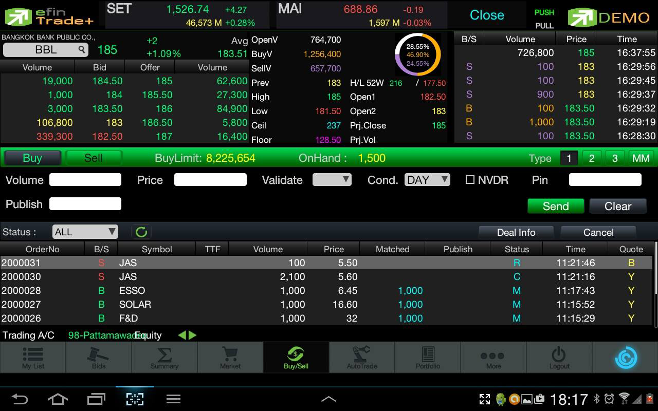 efin Trade Plus - screenshot