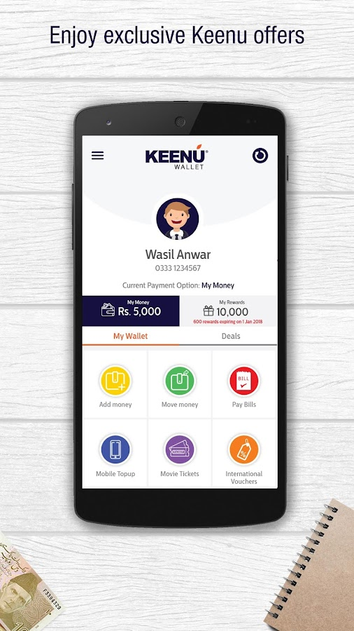 Keenu Wallet- screenshot
