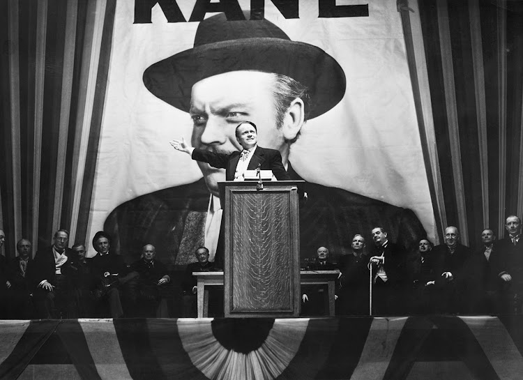Orson Welles in Citizen Kane, 1941.