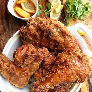 Lemon Pepper Honey Fried Chicken.
