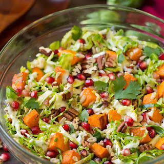 Shredded Brussels Sprout and Pomegranate Salad.