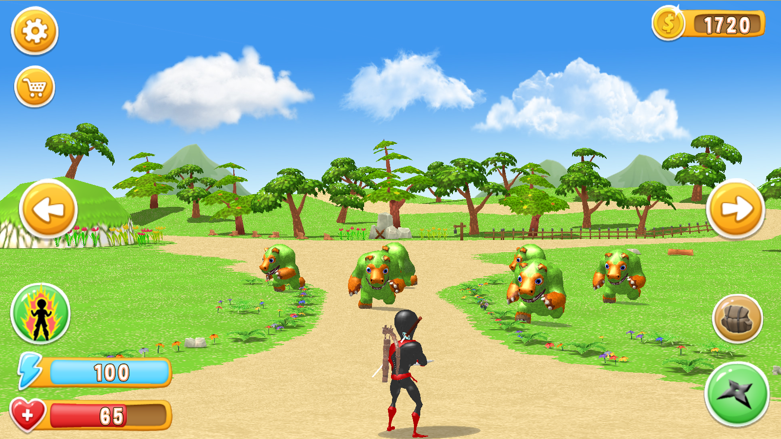 Ninja Vs. Monsters – Shooter Attack Battle- screenshot