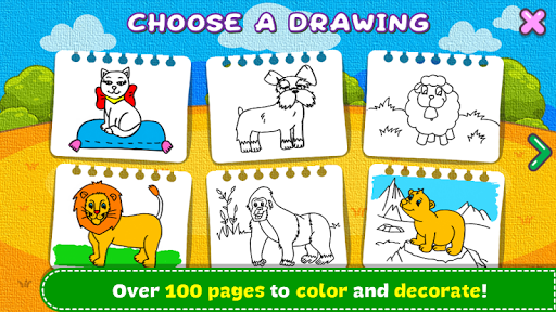 Coloring & Learn Animals - Kids Games screenshots 2