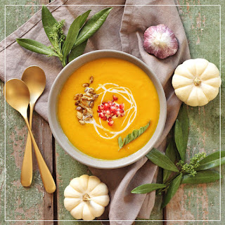 AUTUMN HARVEST SOUP WITH ROASTED SQUASH SEEDS