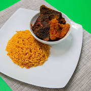 Jollof Rice & Assorted Meat