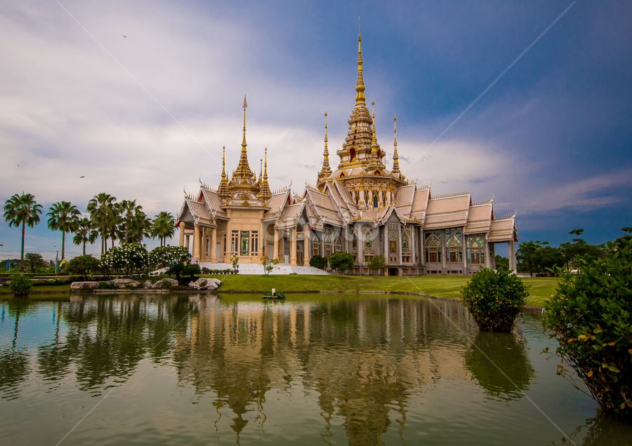 Wat Sorapong Temple Thailand. by John Greene - Buildings & Architecture Places of Worship ( temple, buddhism, thailand, korat, wat sorapong, john greene )