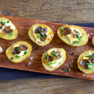 Mushroom And Swiss Crostini