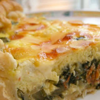 Swiss Chard and Goat Cheese Quiche.