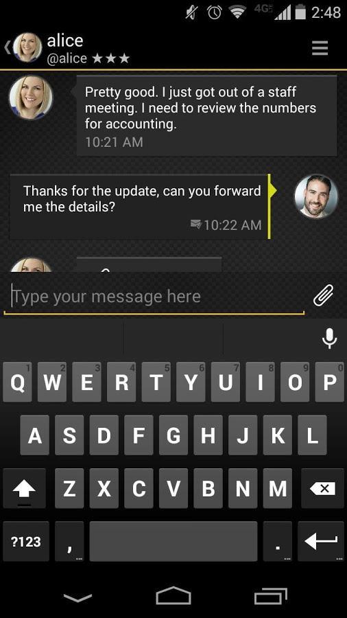 Silent Text - secure messages- screenshot