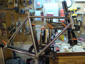 Photo: Tubeset is mitered and dryfit on the fixture.