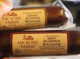 Next, cold cut of choice. I like to use Hickory Farms Summer Sausage. For...