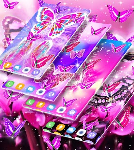 Pink butterfly live wallpaper - náhled