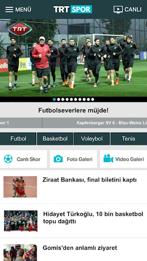TRT Spor screenshot 1